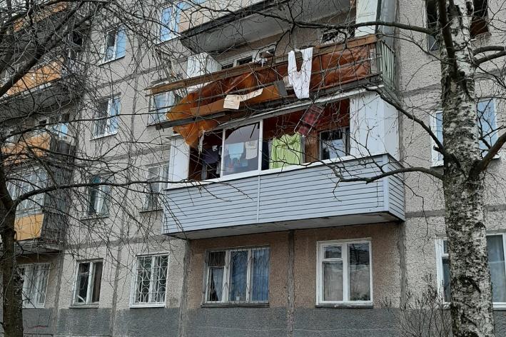 Взрыв произошёл в квартире на третьем этаже