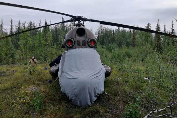 Обратно красноярцу вертолёт пришлось перевозить на теплоходе