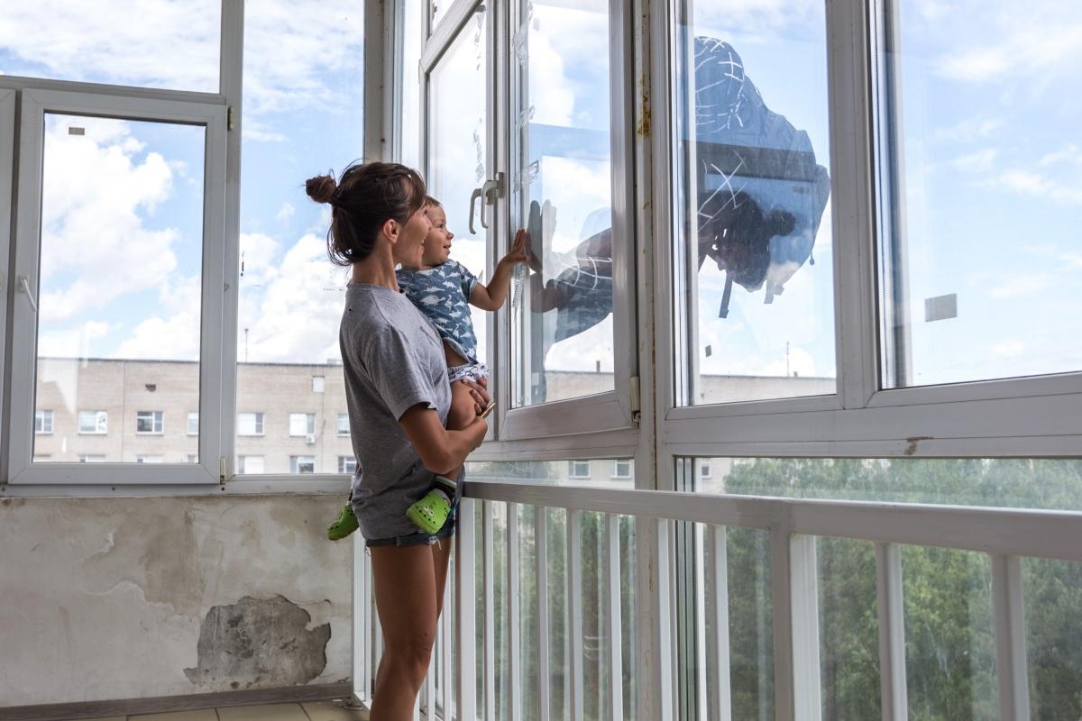 Окна открывали медсёстры. Фото Ольги Бурлаковой