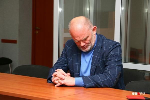 Владимир Нелюбин на суде в сентябре 2018 года