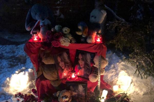 Вчера вечером друзья погибшей сделали мемориал в ее память