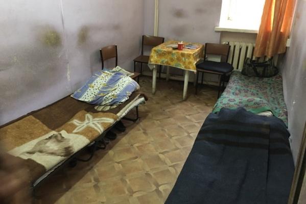 Так выглядела комната отдыха в преддверии косметического ремонта<br>