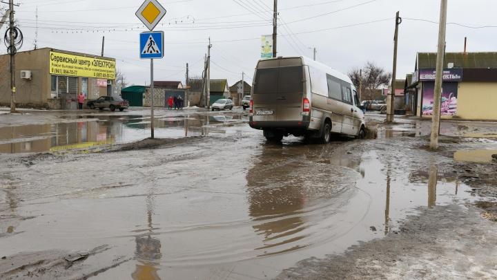«Краснослободск превращается в Атлантиду»: волгоградцы тонут в дорожных ямах