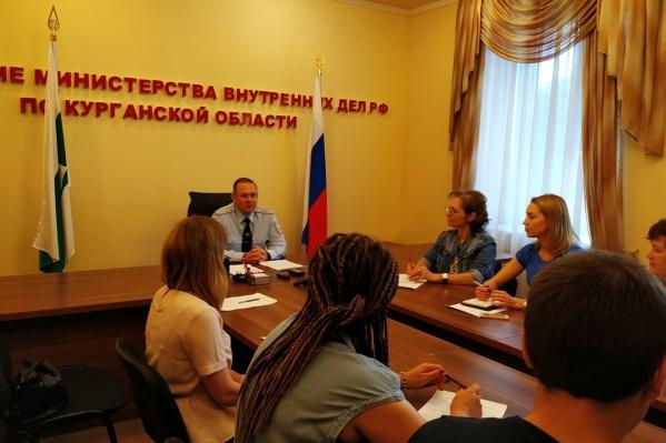 Первая пресс-конференция нового начальника УМВД по Курганской области