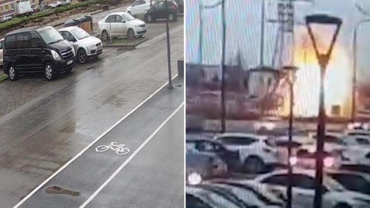 «Сначала был яркий свет, а потом заорали сигнализации машин»: тюменцев напугал взрыв трансформатора