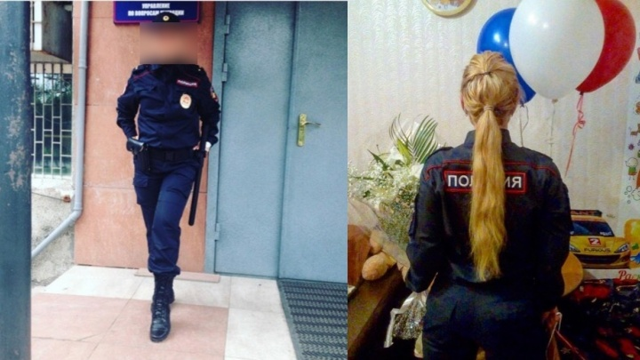 Блондинка из красноярской полиции взбудоражила интернет откровенными фото