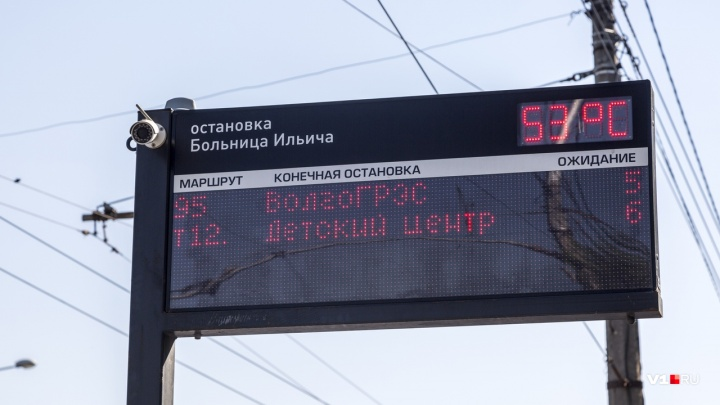 Волгоград раскалился до +53 градусов на солнце