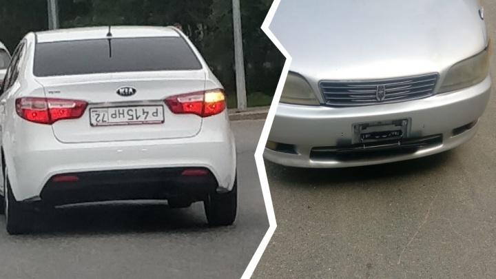 Шторки, перевертыши, стертая краска: как тюменские водители обманывают камеры и что им за это грозит