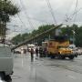 В Челябинске восстановили движение троллейбусов на дороге, где упал бетонный столб