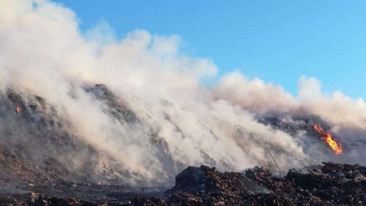 Пожар на мусорном полигоне в Старом Кировске начался из-за поджога