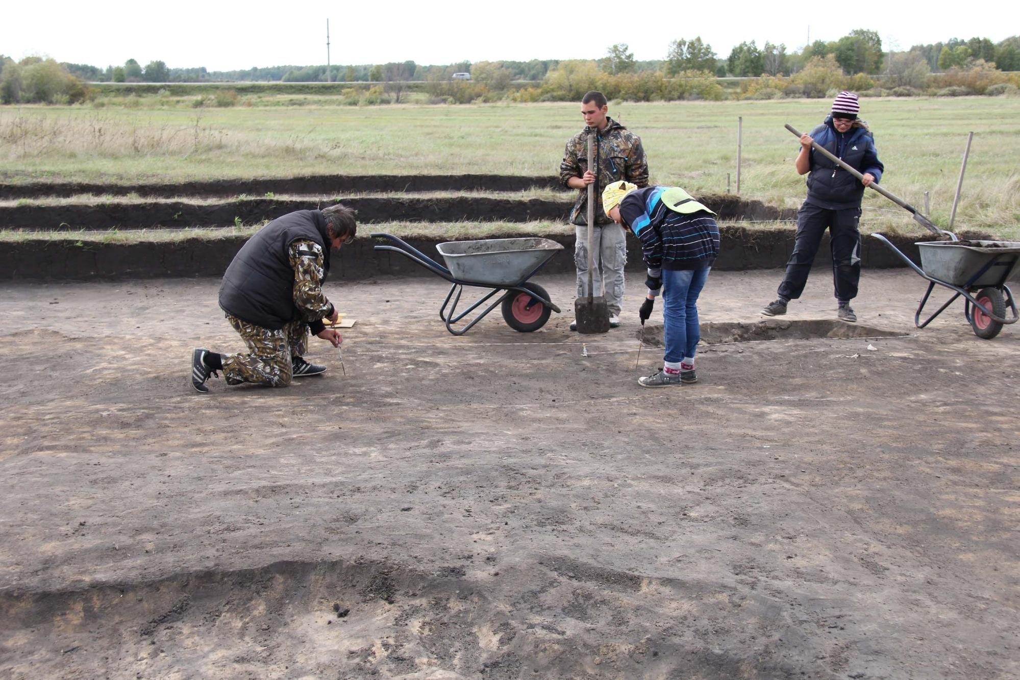 В Венгеровском районе каждый год трудятся археологи. По словам местных, они живут в полевых условиях у раскопок, но часто приезжают в село