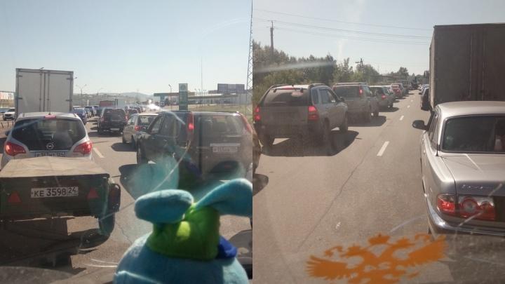 Дневные пробки на Северном шоссе прогнозируют до 24 августа