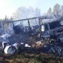В Виноградовском районе на М-8 сгорели фура и легковой автомобиль