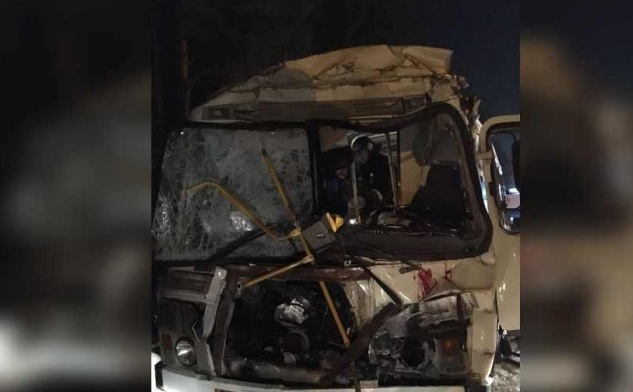 ВКрасноярском крае автобус столкнулся слесовозом, пострадали 19 человек
