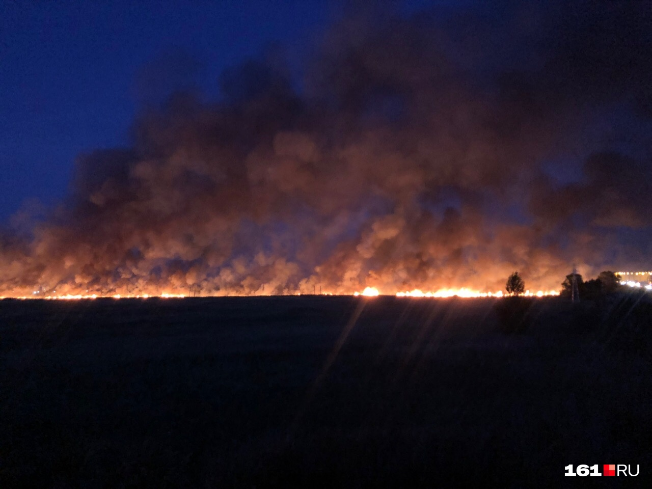 Площадь пожара составляет 0,1 гектара
