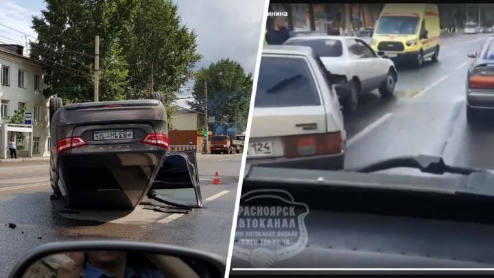 На Калинина серьезные проблемы с движением из-за двух аварий с пострадавшими