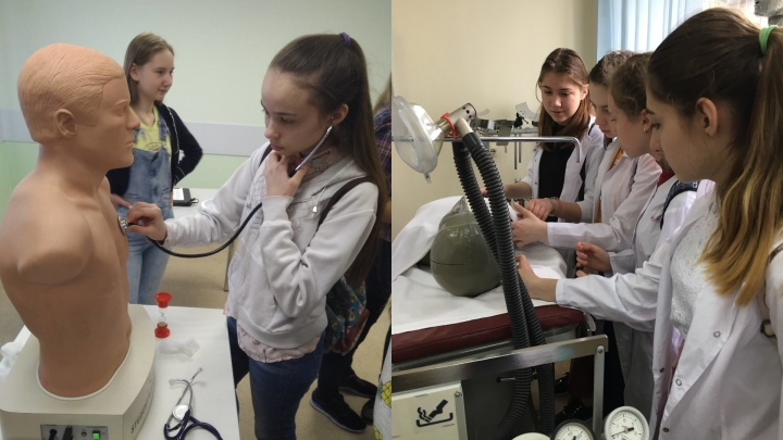 Школьники Красноярска массово записываются в медицинские классы