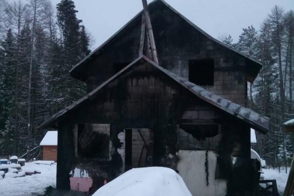 Дом серьезно пострадал от огня