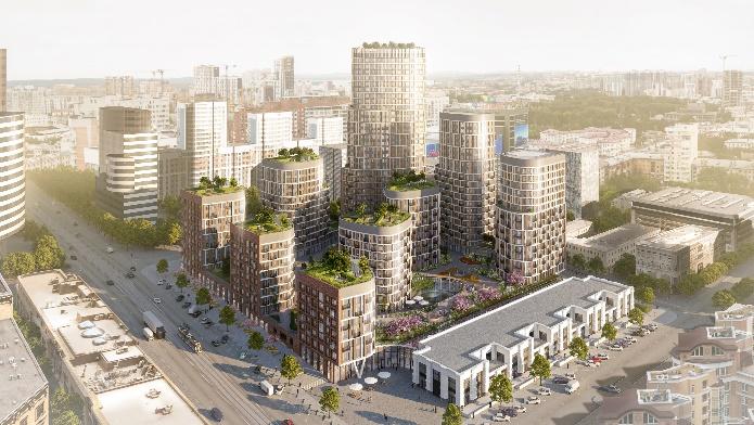 Forum City будет состоять из 9 жилых домов от 7 до 32 этажей