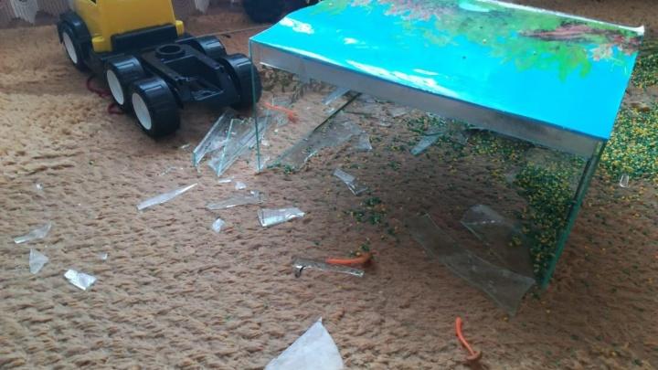 В частном детском саду на ребёнка упал аквариум