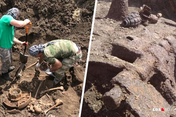 Останки солдат Великой Отечественной войны нашли в Ростовской области