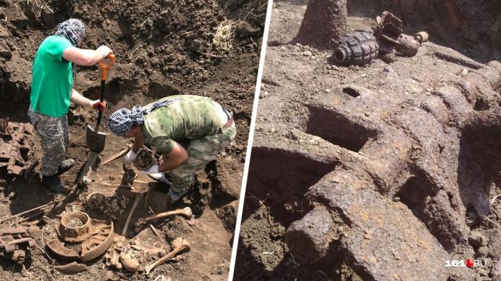 Ростовские поисковики обнаружили останки танкового экипажа