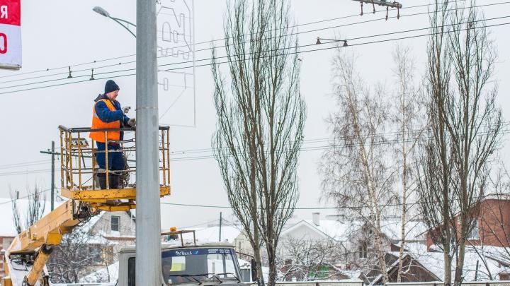 Московское шоссе и Ново-Садовую украсят 1,5 тысячи светящихся консолей