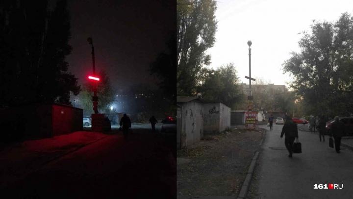 Как это работает: ростовчанин попросил чиновников отремонтировать фонарь на темной улице