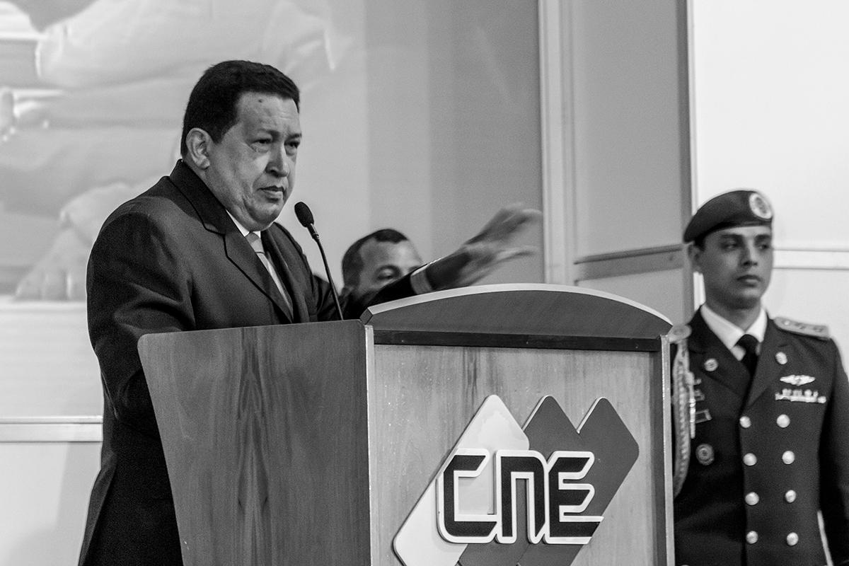 Татьяне пришлось посетить очень много мероприятий, прежде чем она смогла увидеть Уго Чавеса вживую
