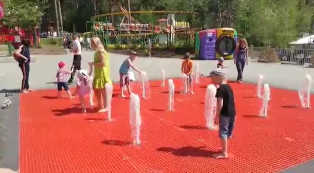 В Новосибирском зоопарке заработал «сухой» фонтан