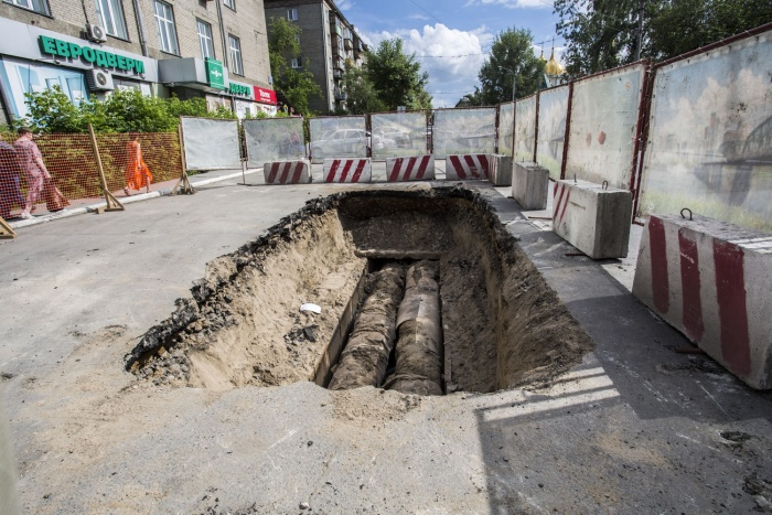 Ремонт теплотрассы на ул. Советской