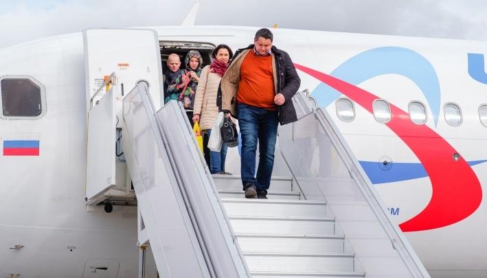 В Перми экстренно приземлился самолет, который летел в Санкт-Петербург