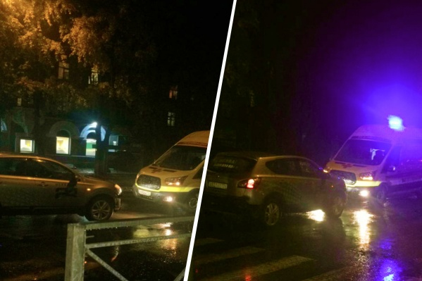 Пострадавшего мужчину увезли в больницу