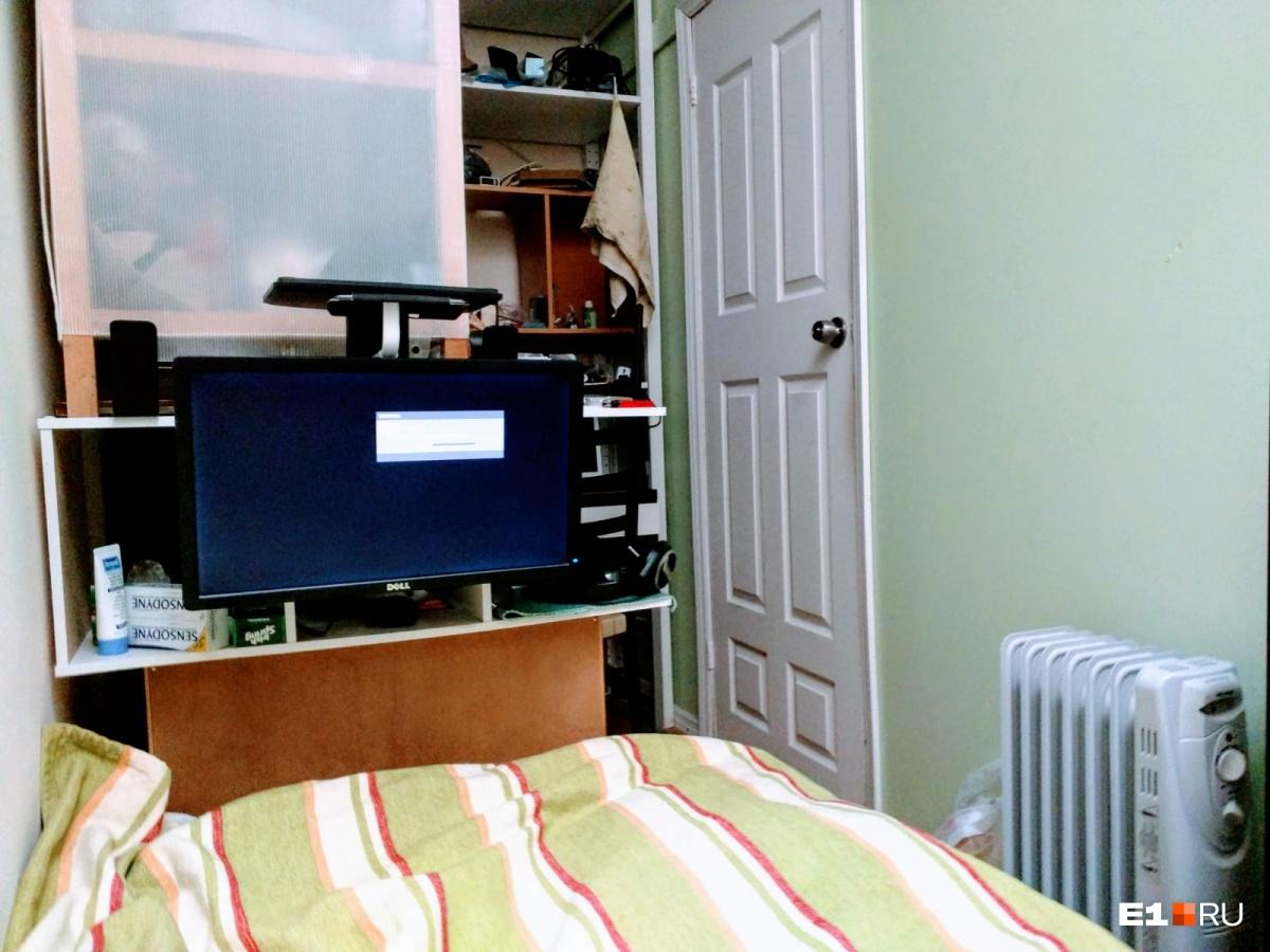 Комната, в которой Алексей жил первое время после переезда в Нью-Йорк
