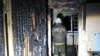 Пожар начался в закрытой секции
