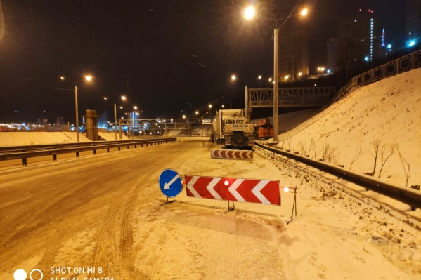 Дорогу перекрывали на несколько часов ночью