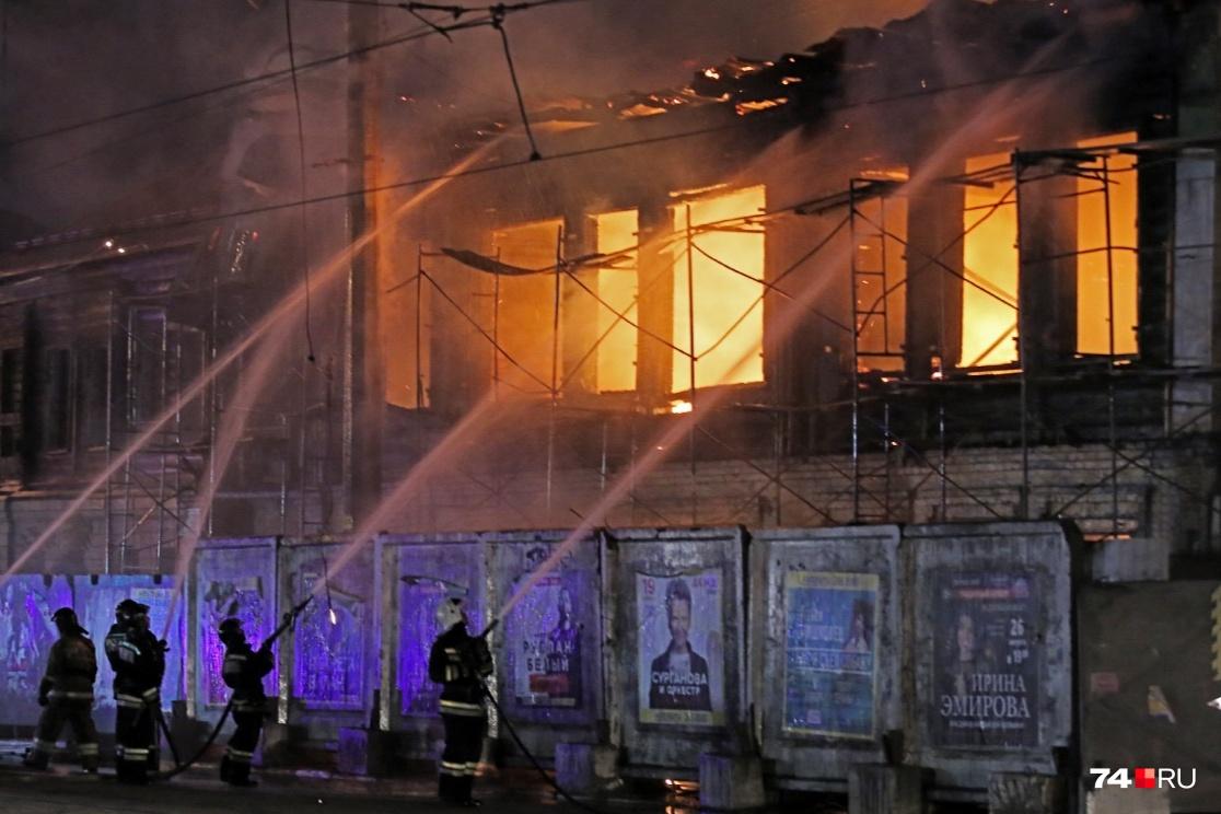 Особняк выгорел почти полностью в ночь на 10 августа