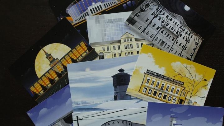 В Екатеринбурге выпустили 295 открыток с видами города: где их можно приобрести и куда отправить