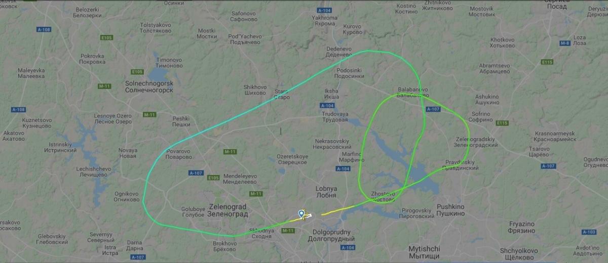 Самолет успел сделать несколько кругов перед заходом на посадку