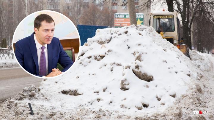 «Всё удачно растащено и обанкрочено»: мэр Ярославля нашёл виноватого в плохой уборке улиц