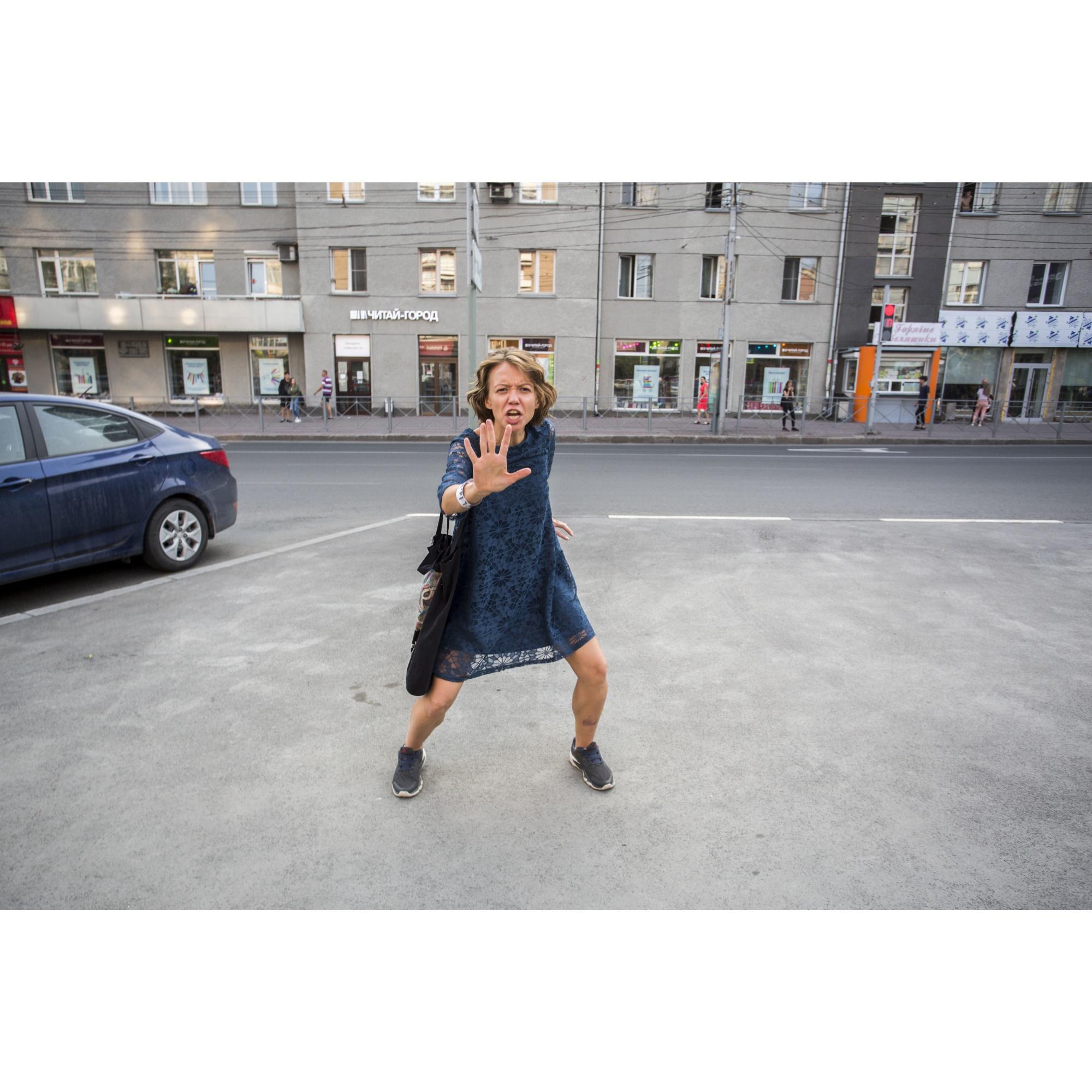 Кульминационную сцену разыграли на парковке у площади Ленина