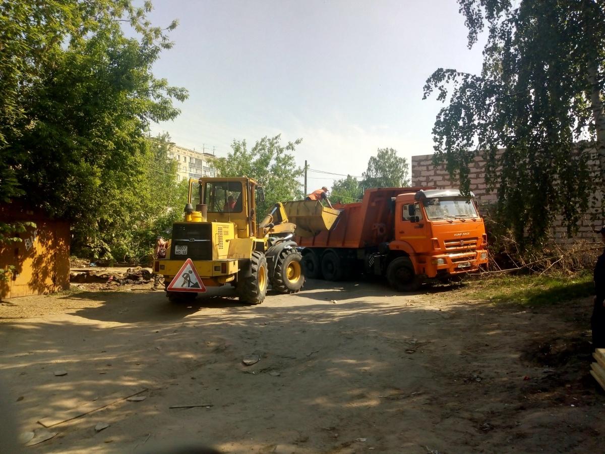 Строительство новой дороги в Сормове