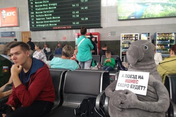 С 25 июня станция Шиес закрыта для пассажиров