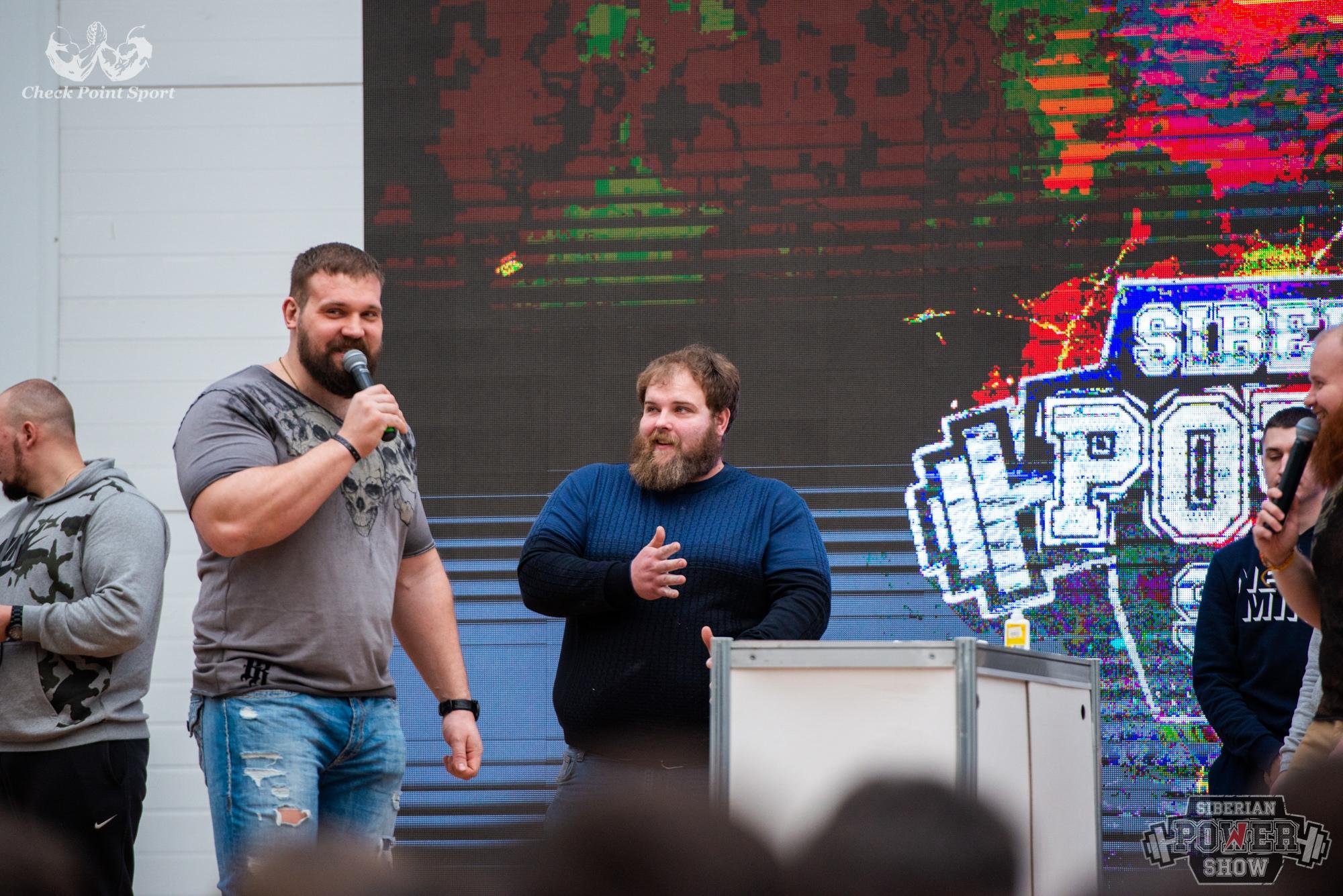 Василий получил приз в 15 тысяч рублей и футболку от сильнейшего человека планеты Кирилла Сарычева