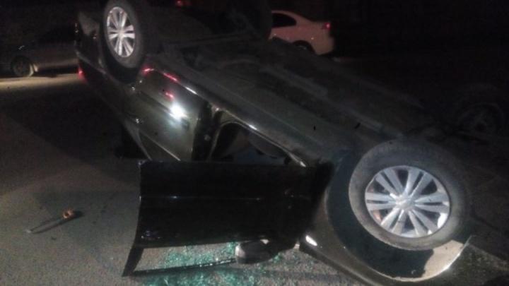 Пьяный водитель перевернул Datsun вверх колёсами на Куйбышева