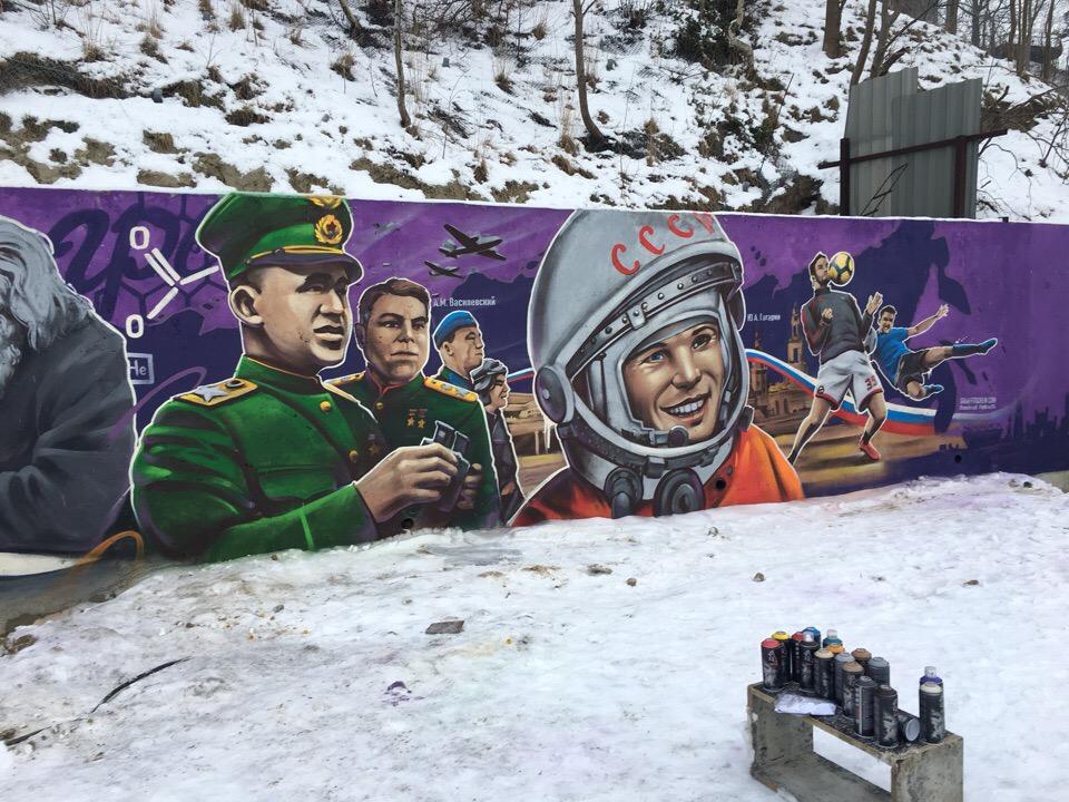 Тимур Абдуллаев выиграл конкурс эскизов граффити на набережной Светлогорска