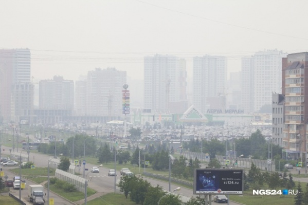 В дыму оказались все районы Красноярска