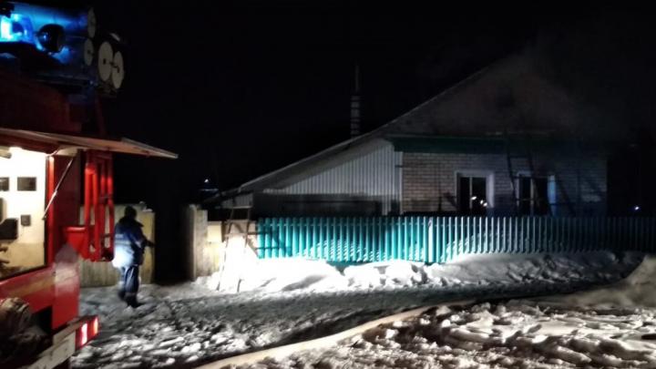 В пожаре в Башкирии погиб мужчина