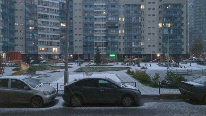 Красноярск занесло снегом