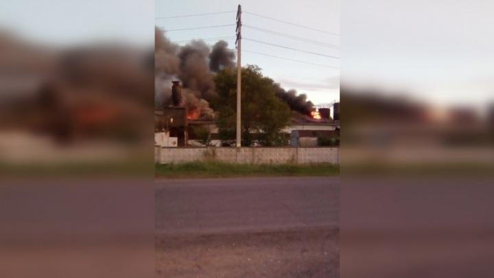 Огонь и черный дым столбом: очевидцы сообщили о крупном пожаре на заводе под Тольятти